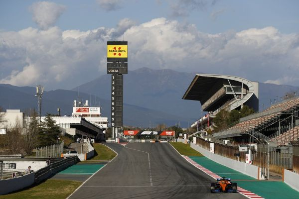 McLaren F1 Barcelona test 2 day 1 - Norris and Sainz on track