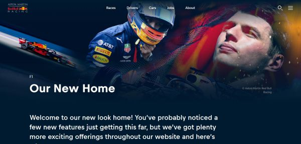 Aston Martin Red Bull Racing - A home away from home: Visit our new website