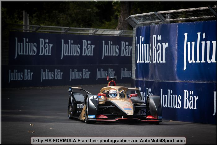DS Techeetah with James Rossiter and Filipe Albuquerque in Formula E test