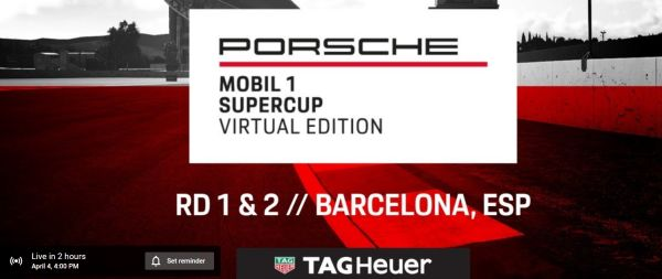Livestream Virtual Porsche Mobil1 Supercup Barcelona