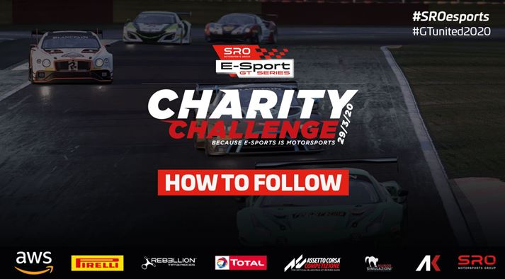 SRO E-Sport GT Series Charity Challenge - Extensive broadcast details and commentary line-up
