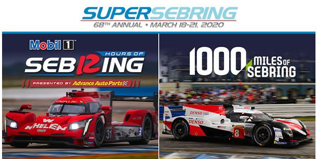 Mobil1 12 Hours of Sebring events and schedule