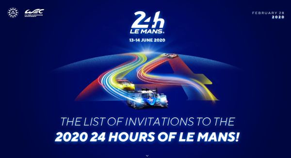 Who's invited to take part in the 2020 24 Hours of Le Mans? - Entry List download