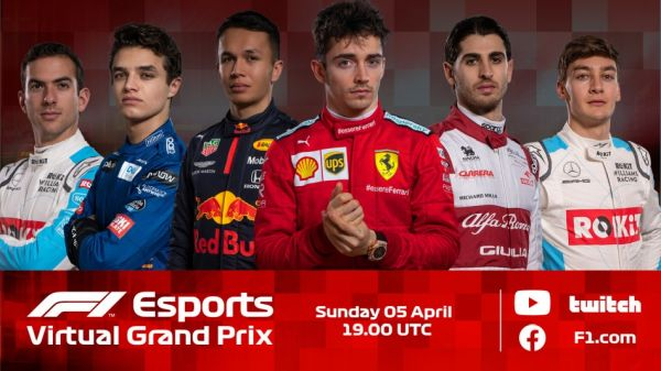 Virtual F1 Grand Prix driver line-up and how to watch - at 7pm
