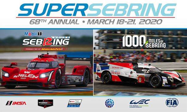 Gates Open March 18 for the  Mobil 1 Twelve Hours of Sebring - with schedule