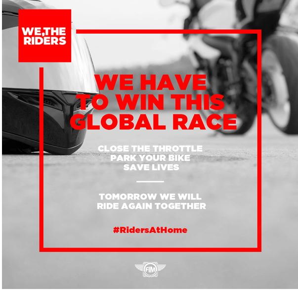 We have to win this global race together #RidersAtHome