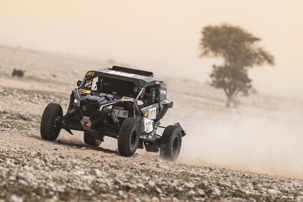 South Racing Can-Am Team's Jones and Gugelmin win two stages and show impressive pace at Qatar Cross-Country Rally