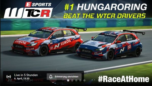 #RACEATHOME: WTCR racers face strong opposition in Hungaroring pre-season Esports WTCR opener
