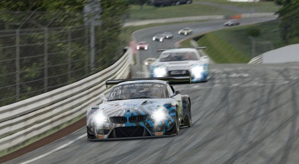 Podium for BMW works driver Philipp Eng on the virtual Nürburgring-Nordschleife