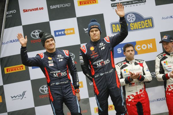 Hyundai Motorsport has claimed a second-placed podium result in a complicated Rally Sweden