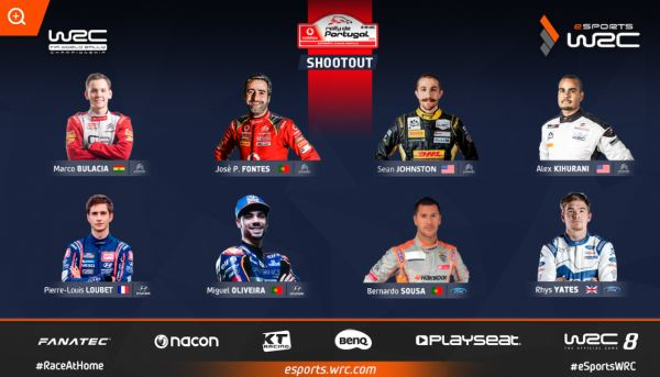 Vodafone Rally of Portugal Esports WRC Shootout live during 3 days