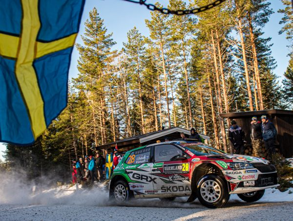 Rally Sweden/WRC3: SKODA privateers Emil Lindholm and Oliver Solberg finish second and fifth
