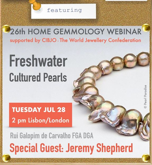 CIBJO invites you to join the 26th Home Gemmology webinar, revealing the world of freshwater cultured pearls