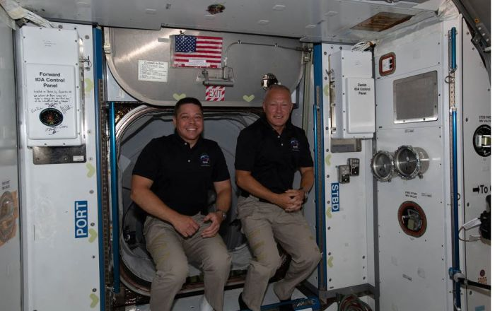 NASA to Provide Coverage of Astronauts' Return from Space Station on SpaceX Commercial Crew Test Flight