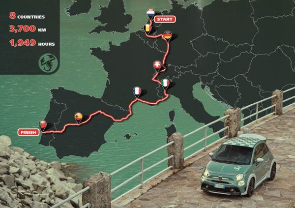 "The Abarth ""Tour of Europe in 1949 Hours"" restarts in Turin"