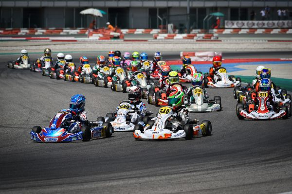 Matveev challenging for the WSK Super Master title in Mini