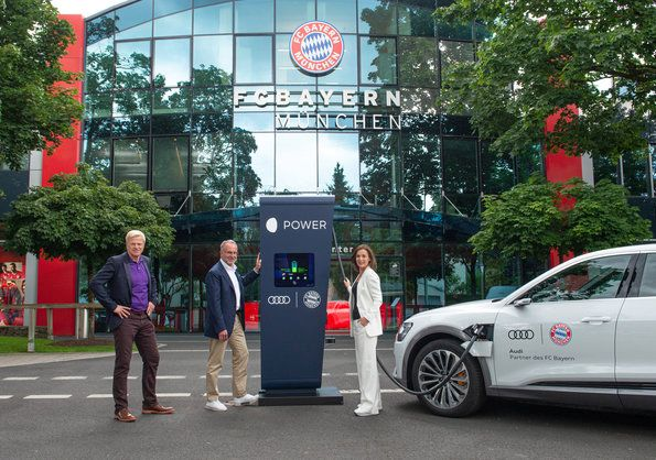 Audi equips FC Bayern training grounds with charging points - Ready for the Audi e-tron
