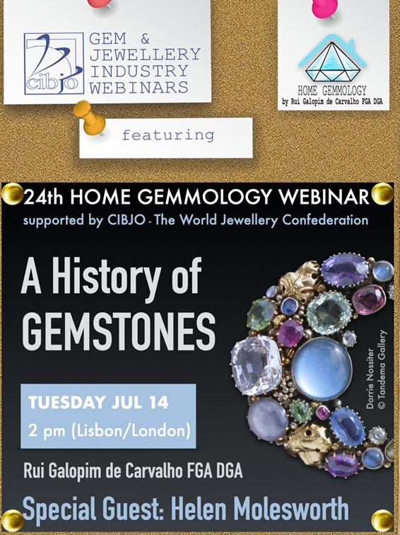 CIBJO invites you to join the 24rd Home Gemmology webinar, looking at the history of gemstones from antiquity to the present day