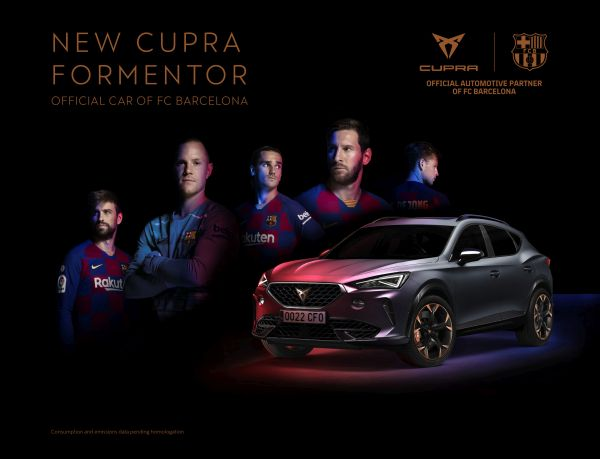 The CUPRA Formentor becomes the official car of FC Barcelona