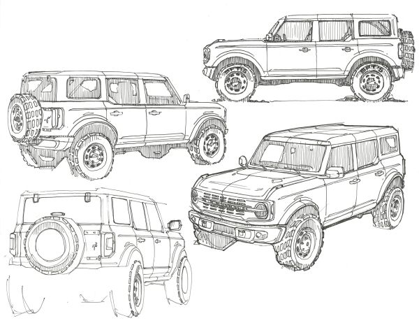 All New 2021 Ford Bronco Two Door And First Ever Four Door Models Automobilsport Com