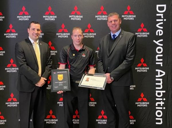 Mitsubishi Motors South Africa celebrates its first Top 10 Globally Certified Training Instructor