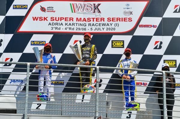 Antonelli is the new OK leader in WSK Super Master Series at Adria