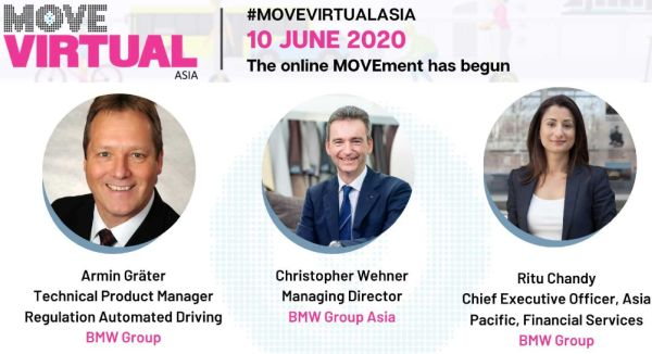 BMW Executives to speak at MOVE Virtual Asia – Mobility Reimagined