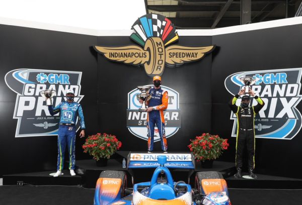 IndyCar GMR GP Indianapolis classificaton- leader summary - Scott Dixon's victory