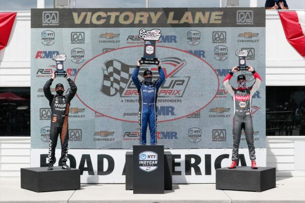 IndyCar Road America race 2 classification - Rosenqvist takes victory