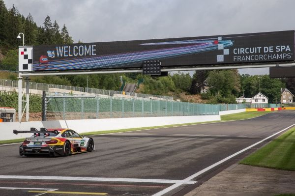 First encounter with Eau Rouge: BMW M4 DTM takes on the 'Circuit de Spa-Francorchamps'.