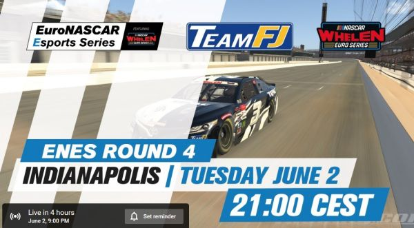 EuroNascar Esports at Virtual Indianapolis Motor Speedway livestream and more