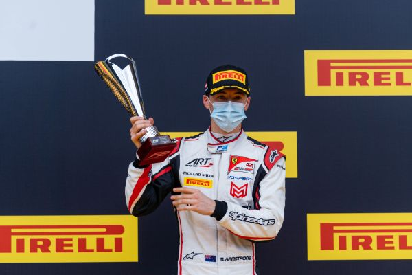 FIA Formula 2:FDA's Armstrong on the podium