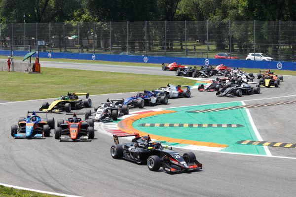 Franco Colapinto wins the first Formula Renault Eurocup race of the season at Monza