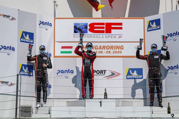 Hungaroring Euroformula Open race 1 classification - victory for Yifei Ye