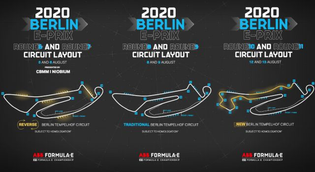 Berlin ePrix on August 5-6,8-9 and 12-13 -19:00 CEST