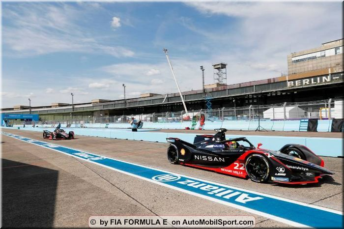 Oliver Rowland on Superpole -Berlin ePrix round 10