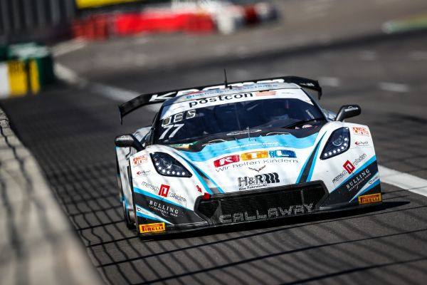 First best lap time of the ADAC GT Masters new season set by Callaway Corvette