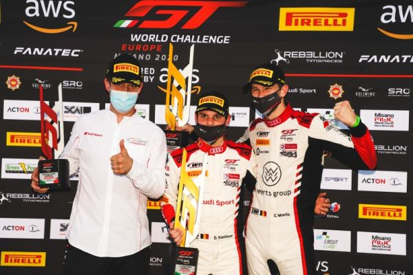 GT World Europe Sprint Cup Misano Race 1 classification - Weerts/Vanthoor victorious