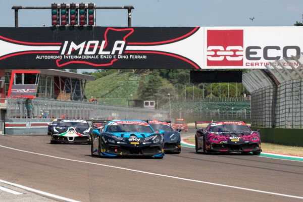 Ferrari Challenge Europe at Imola - Tabacchi and Grouwels on top step of podium