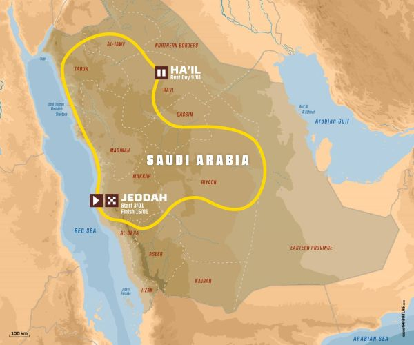 2021 Dakar in Saudi Arabia - key points, route