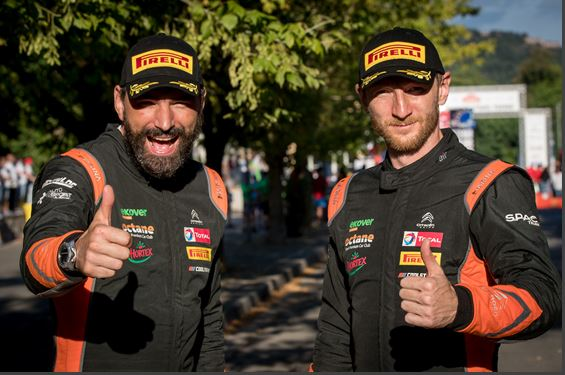 In character: Lukyanuk won the first round of the FIA European Rally Championship