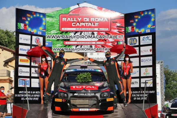 Lukyanuk dominates Rally di Roma Capitale, Basso is second leading Solberg