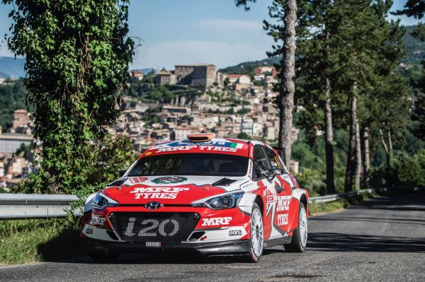 Mission successful for Team MRF Tyres at Rally di Roma Capitale
