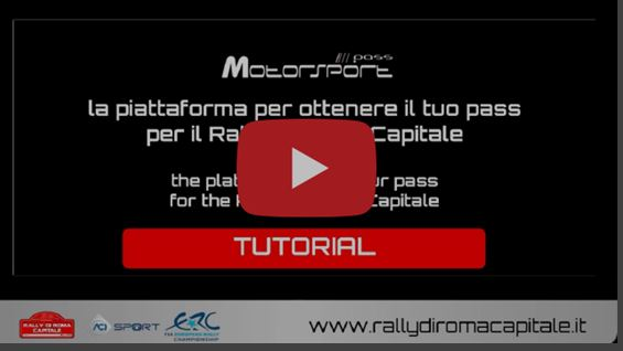 The new and innovative web platform to regulate access to the Rally di Roma Capitale is now ready.