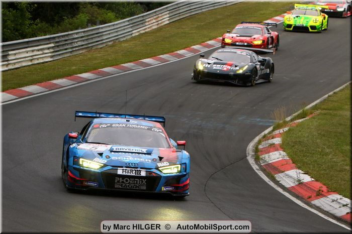 NLS Nürburgring race 3 top 15 standings at 13h25 - #5Audi in lead