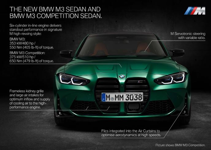 The new BMW M3 Sedan and BMW M3 Competition Sedan - The new BMW M4 Coupé and BMW M4 Competition Coupe Highlights