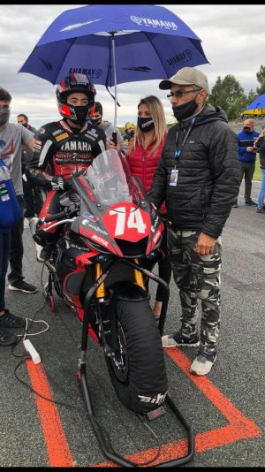 Ludovic Cauchi's final race in French Supersport 600 in Nogaro -great performance