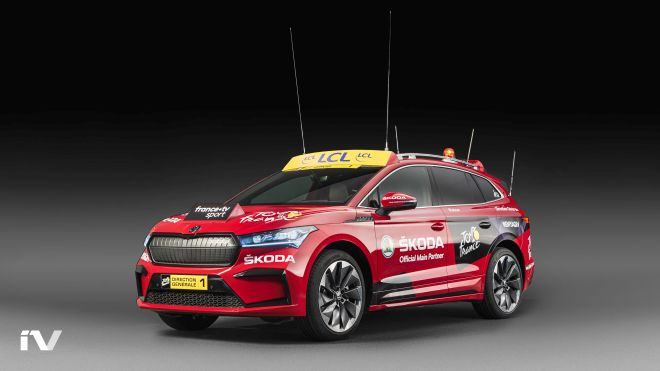 SKODA ENYAQ iV makes its debut as the lead vehicle in the Tour de France