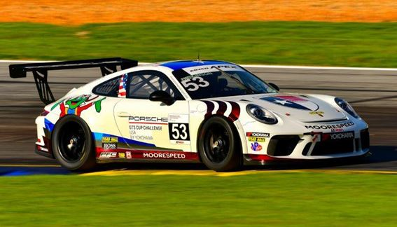 Moorespeed's Riley Dickinson Earns Second Place IMSA Porsche GT3 Cup USA by Yokohama Finish at Michelin Raceway Road Atlanta Saturday