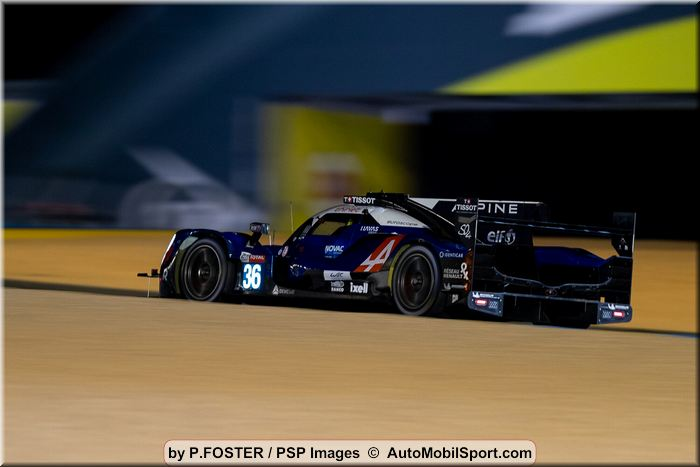The Signatech Alpine Elf team finishes the 24 Hours of Le Mans just off the LMP2 podium.